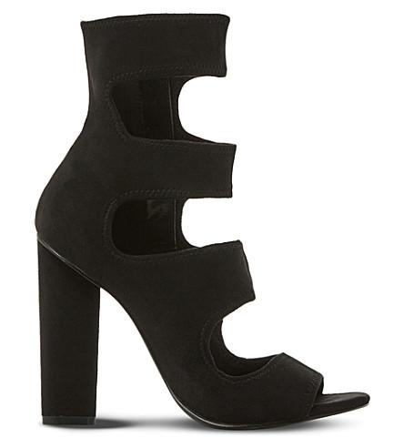 STEVE MADDEN Tawnie multi-strap suede sandals (Black-suede