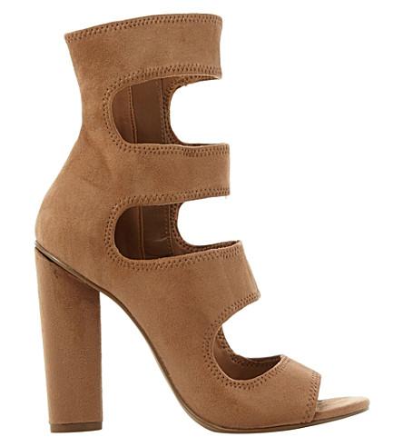STEVE MADDEN Tawnie multi-strap suede sandals (Camel-suede