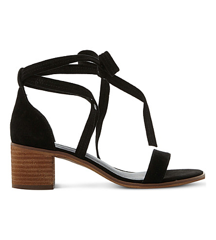 STEVE MADDEN Rizza suede lace-up sandals (Black-suede