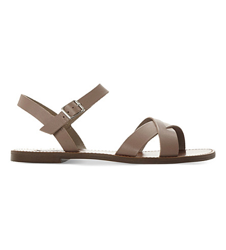STEVE MADDEN Dublin leather sandals (Grey-leather