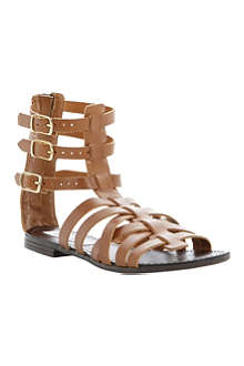 STEVE MADDEN Plato leather gladiator sandals