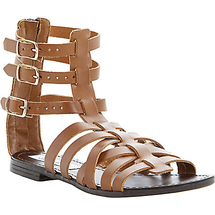 STEVE MADDEN Plato leather gladiator sandals (Tan-leather