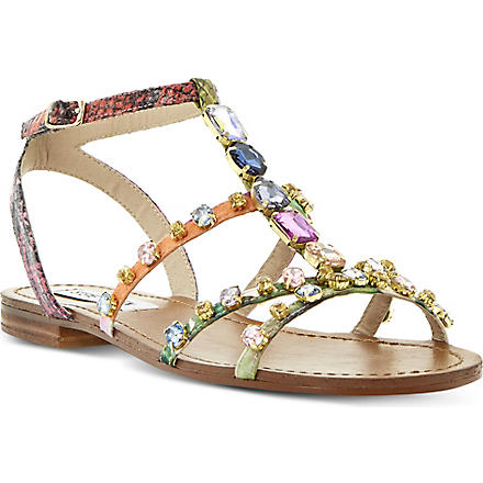 STEVE MADDEN B Jewelled embellished sandals (Multi-plain+synthetic