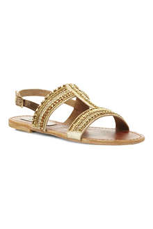 STEVE MADDEN Gildedd embellished T-bar sandals