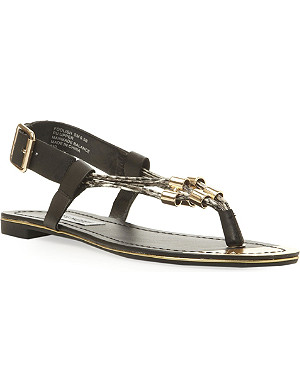 STEVE MADDEN Chain toe post sandal