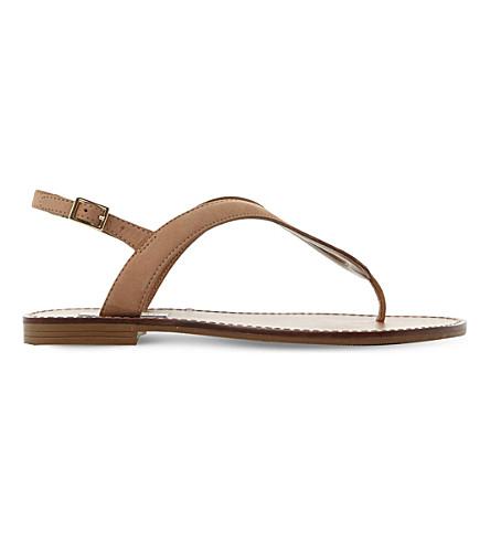 STEVE MADDEN Takeaway leather sandals (Tan-nubuck