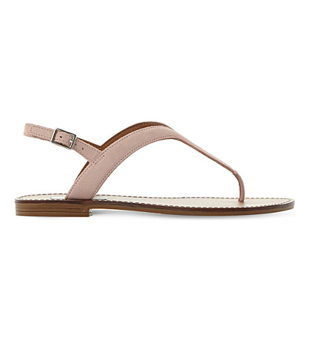 STEVE MADDEN Takeaway leather sandals (Pink-leather