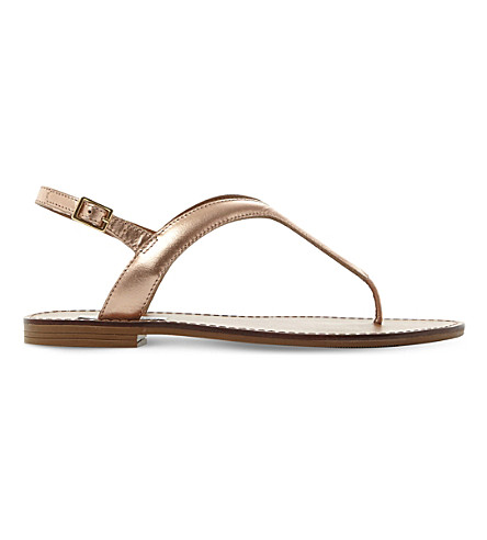STEVE MADDEN Takeaway leather sandals (Rose+gold-synthetic