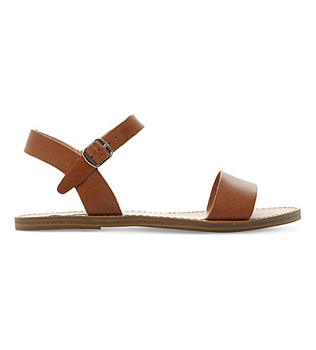 STEVE MADDEN Kondi faux-leather sandals (Tan-leather
