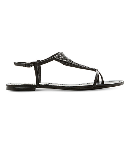 STEVE MADDEN Chasity sandals (Black-synthetic