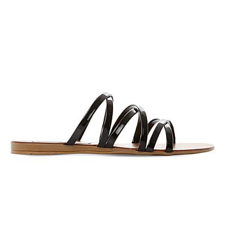 STEVE MADDEN Rory ross strap patent sandals (Black-patent
