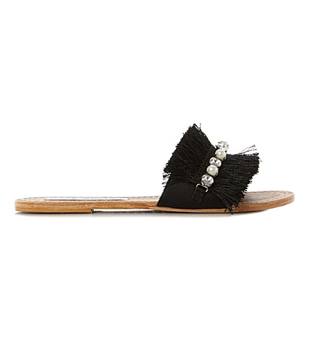 STEVE MADDEN Isabella tasselled sandals (Black-fabric