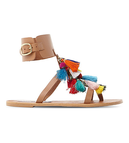 STEVE MADDEN Tassel fabric sandals (Multi-fabric