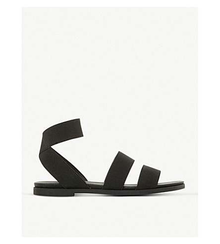 STEVE MADDEN Lime elasticated-strap gladiator sandals (Black