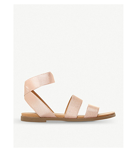 STEVE MADDEN Lime elasticated-strap gladiator sandals (Metallic-metallic+fabric
