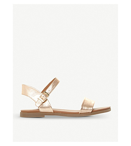 STEVE MADDEN Dina two-part metallic sandals (Rose-leather