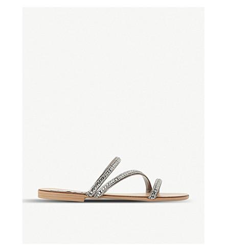 STEVE MADDEN Dashing embellished sandals (Pewter-synthetic