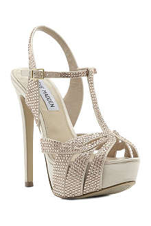 STEVE MADDEN Ally diamanté-embellished satin sandals