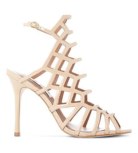 STEVE MADDEN Slithur caged patent sandals (Nude-patent