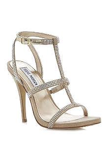 STEVE MADDEN Luulu - diamante detail t-bar heeled sandals