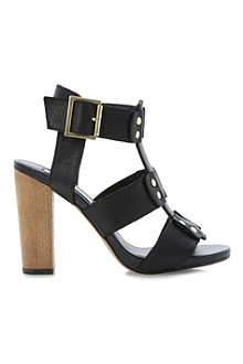 STEVE MADDEN Neville leather heeled sandals