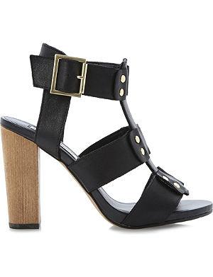 STEVE MADDEN Neville leather heeled sandals