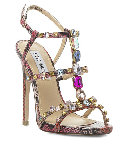 STEVE MADDEN Majestic jewelled sandals (Multi-synthetic