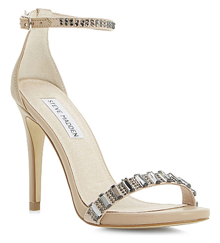 STEVE MADDEN Suzzanna embellished sandals (Natural-synthetic