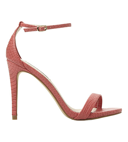 STEVE MADDEN Stecy reptile-print heeled sandals (Coral-synthetic