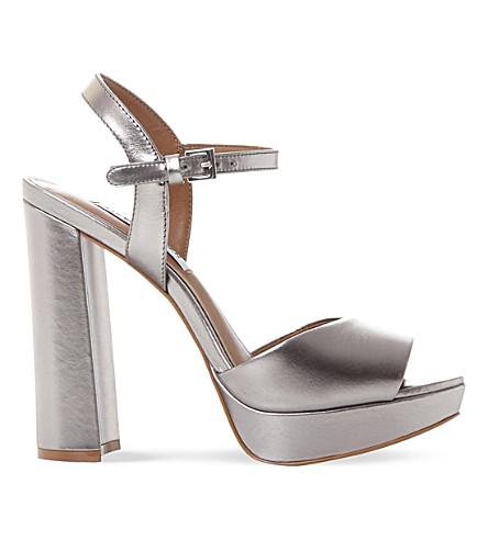 STEVE MADDEN Kierra SM leather platform sandals (Pewter-leather