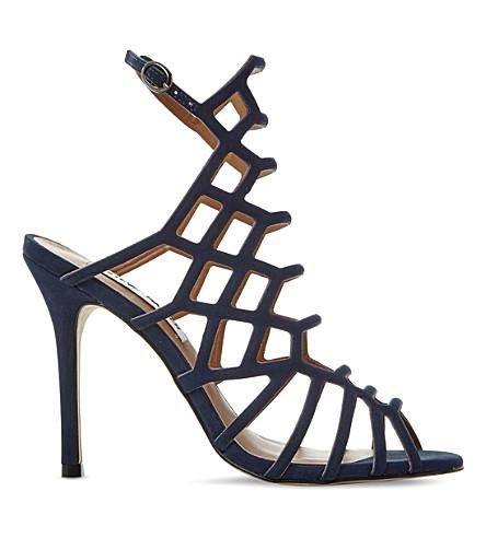 STEVE MADDEN Slithur caged suede sandals