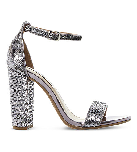 STEVE MADDEN Carsson sequin sandals (Pewter-synthetic