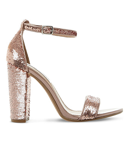 STEVE MADDEN Carsson sequin sandals (Rose+gold-synthetic
