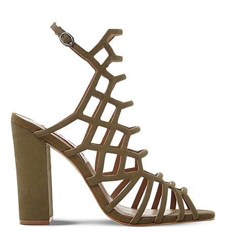 STEVE MADDEN Skales suede heeled sandals (Khaki-nubuck