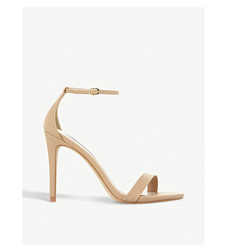 STEVE MADDEN Stecy SM faux-leather heeled sandals (Nude-plain+synthetic