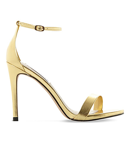 STEVE MADDEN Stecy metallic faux-leather sandals (Gold-synthetic