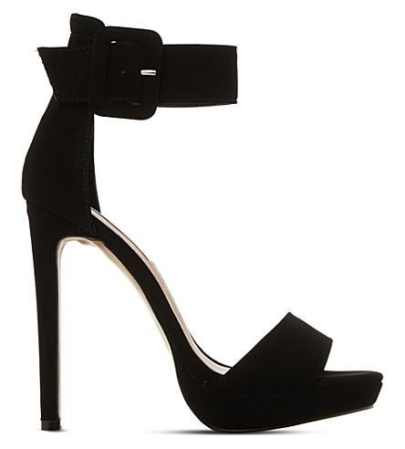 STEVE MADDEN Coco suede heeled sandals (Black-suede