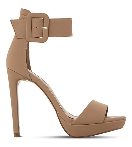 STEVE MADDEN Coco suede heeled sandals (Nude-suede