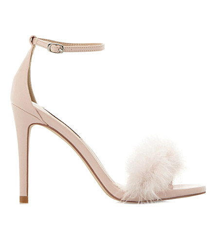 STEVE MADDEN Scarlett pom pom sandals (Pink-synthetic