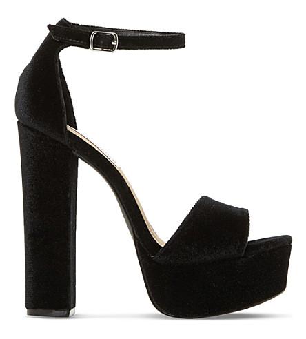 STEVE MADDEN Gonzo sm velvet platform sandals (Black-velvet
