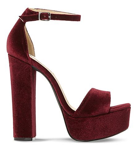 STEVE MADDEN Gonzo velvet platform sandals (Burgundy-velvet