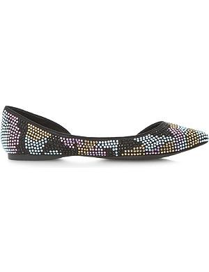 STEVE MADDEN Elizza embellished pointed-toe shoes