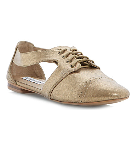 STEVE MADDEN Cori cut-out Oxford shoes (Gold-plain synthetic