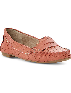STEVE MADDEN Murphey perforated leather loafers