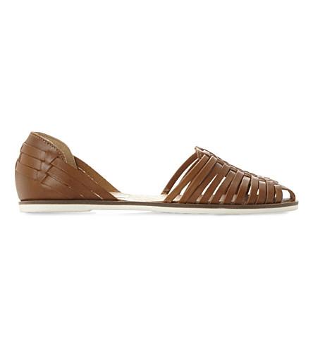 bebecf5c034f9 STEVE MADDEN Hillarie leather huarache sandals (Tan-leather