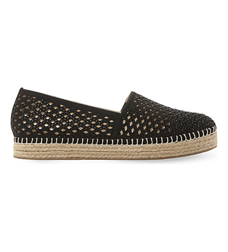 STEVE MADDEN Prettty laser-cut espadrilles (Black-synthetic