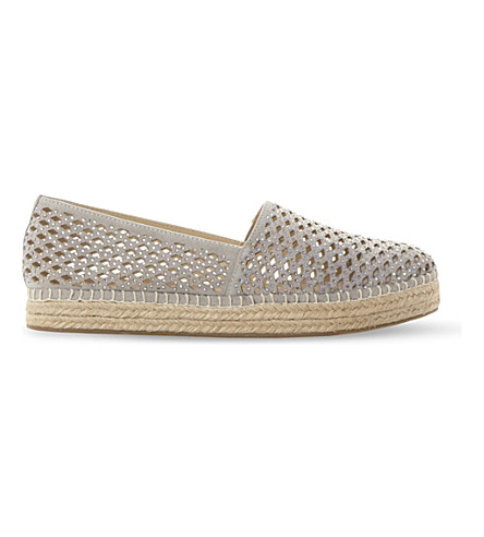 STEVE MADDEN Prettty laser-cut espadrilles (Grey-synthetic
