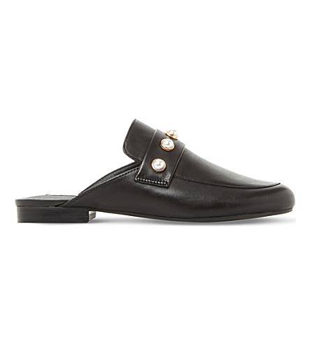 STEVE MADDEN Kandi leather embellished mules (Black-leather