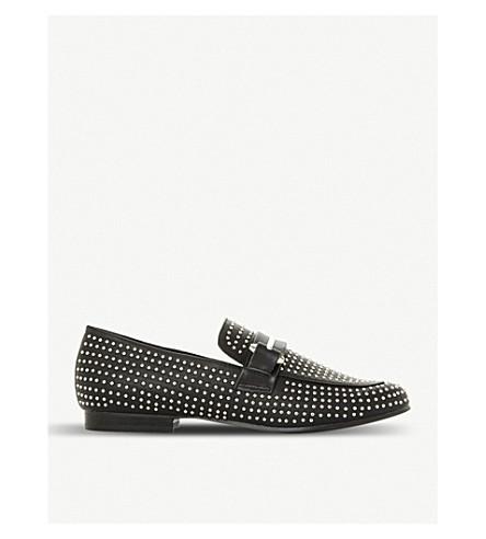 STEVE MADDEN Kast studded leather loafers (Black-leather+mix