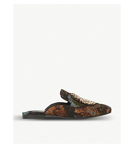STEVE MADDEN Hugh motif backless loafers (Multi-fabric